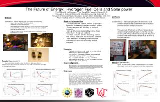 The Future of Energy:  Hydrogen Fuel Cells and Solar power