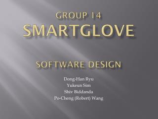 Group 14 SmartGLove Software design