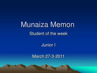 Munaiza Memon