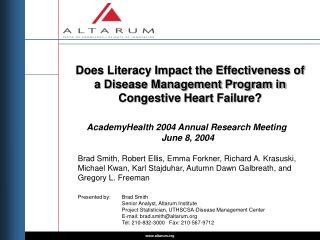 AcademyHealth 2004 Annual Research Meeting  June 8, 2004