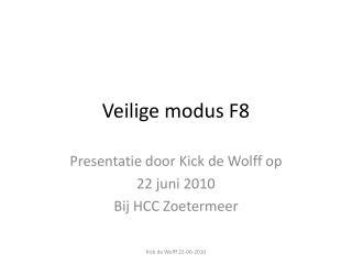 Veilige modus F8