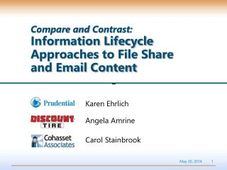 Compare and  Contrast :  Information Lifecycle Approaches to File Share and Email Content