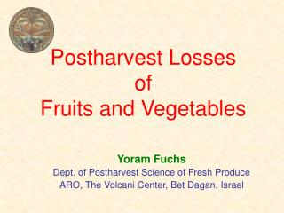 Postharvest Losses of Fruits and Vegetables