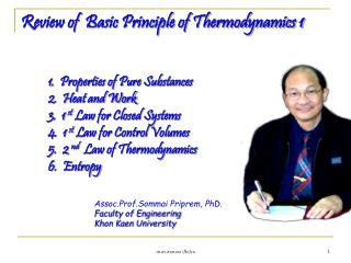 Review of  Basic Principle of Thermodynamics 1
