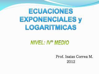 Prof. Isaías Correa M.                                                     2012