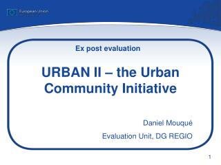 URBAN II � the Urban Community Initiative