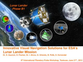 Innovative Visual Navigation Solutions for ESA's Lunar Lander Mission