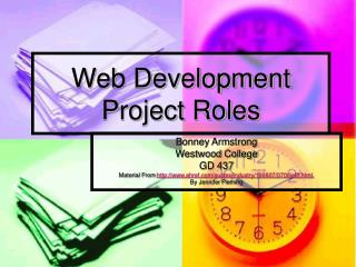 Web Development Project Roles