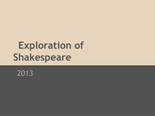 Exploration of Shakespeare