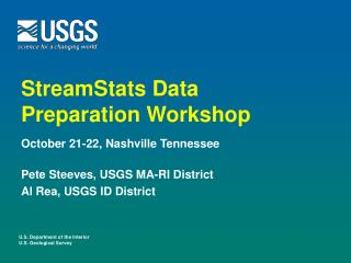 StreamStats Data Preparation Workshop