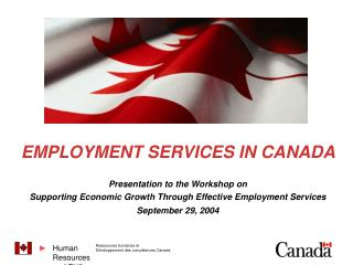 EMPLOYMENT SERVICES IN CANADA