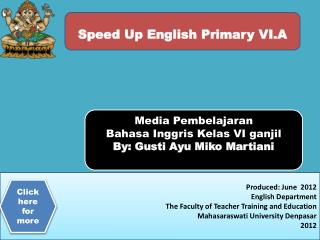 Speed Up Englis h Primary VI.A