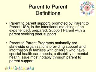 Parent to Parent  Definitions