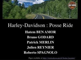 Harley-Davidson : Posse Ride