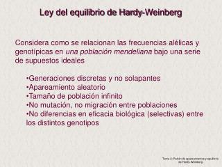Ley del equilibrio de Hardy-Weinberg