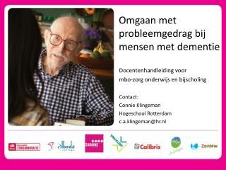 Omgaan met gedragsproblemen bij dementie
