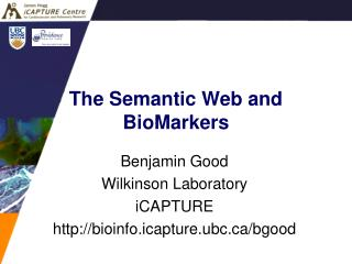 The Semantic Web and BioMarkers