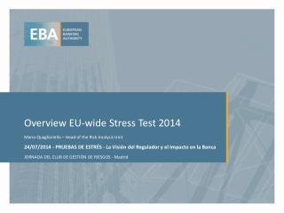 Overview EU-wide  Stress Test 2014