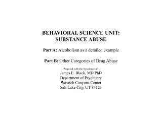 BIO-PSYCHO-SOCIAL PERSPECTIVE ON SUBSTANCE ABUSE :