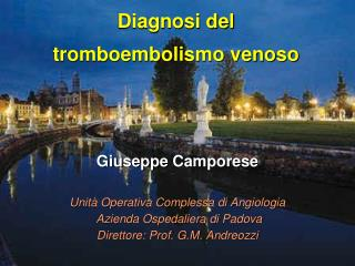Diagnosi del  tromboembolismo venoso
