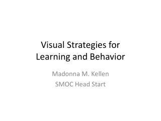 Visual Strategies for  Learning and Behavior