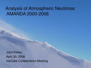 Analysis of Atmospheric Neutrinos:  AMANDA 2000-2006