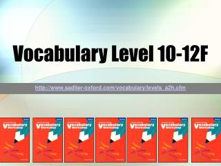 Vocabulary Level 10-12F