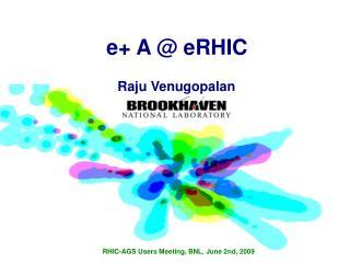 e+ A @ eRHIC