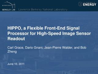 HIPPO, a Flexible Front-End Signal Processor for High-Speed Image Sensor Readout
