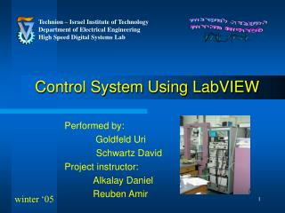 Control System Using LabVIEW