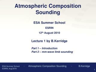 Atmospheric Composition Sounding