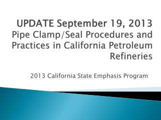 2013 California State Emphasis Program
