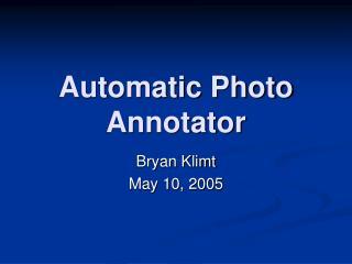 Automatic Photo Annotator