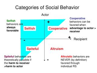 Categories of Social Behavior