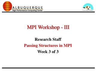 MPI Workshop - III