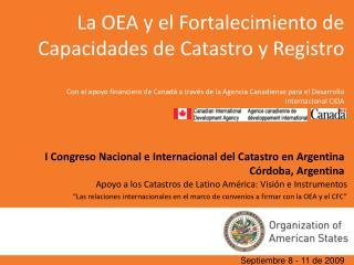 Apoyo a los Catastros de Latino Am rica: Visi n e Instrumentos  Las relaciones internacionales en el marco de convenios