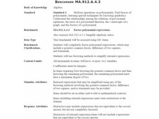 MA.912.A.4.3 : Factor polynomial expressions.