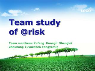 Team study of @risk