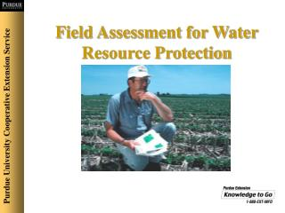 Field Assessment for Water Resource Protection