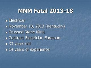 MNM Fatal 2013-18