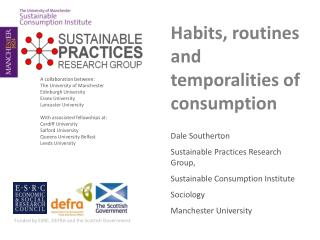 Habits, routines and temporalities of consumption