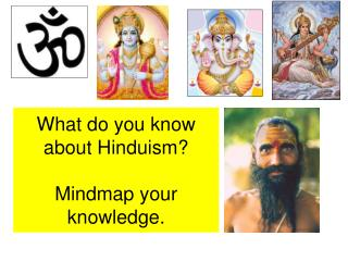 What do you know about Hinduism? Mindmap your knowledge.