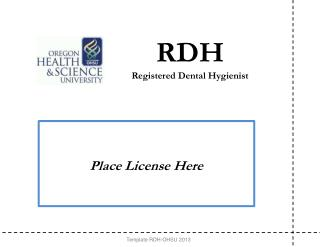RDH Registered Dental Hygienist