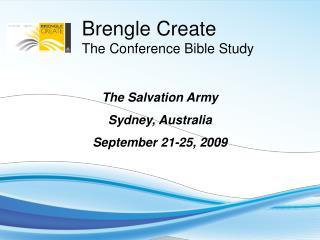 The Salvation Army Sydney, Australia September 21-25, 2009