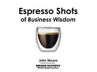 Espresso Shots of  Business Wisdom