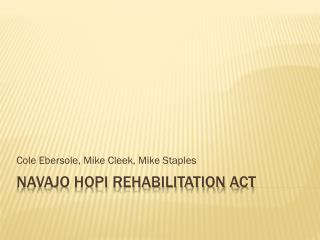 Navajo Hopi Rehabilitation Act