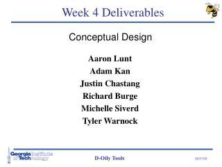 Week 4 Deliverables