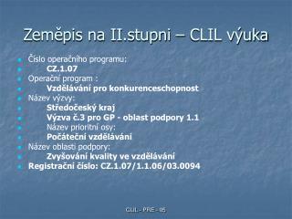 Zeměpis na II.stupni – CLIL výuka