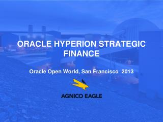 Oracle  hyperion  strategic finance Oracle Open World, San Francisco  2013