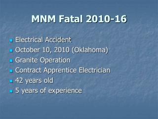 MNM Fatal 2010-16